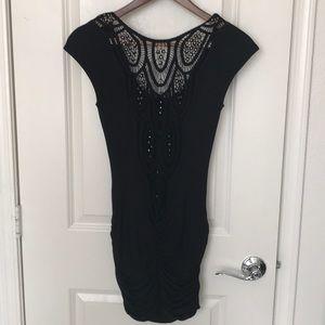 NWT Sky Black Grommet Mini Dress Size Small